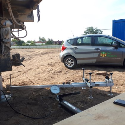 Performing of static plate load test (PLT)
