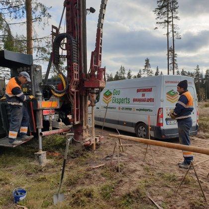 """Core drilling in """"RAIL BALTICA"""" project in Latvia"""