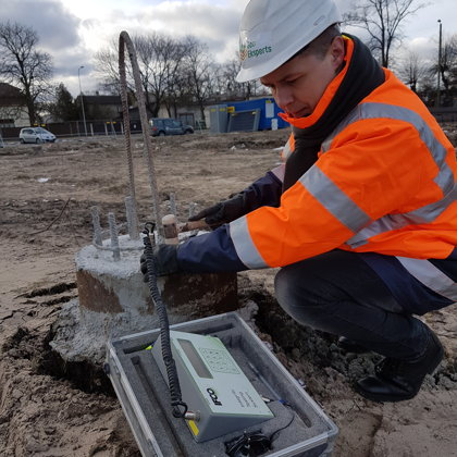 Sonic Integrity Testing of piles (diam. 520 mm) in Ventspils.