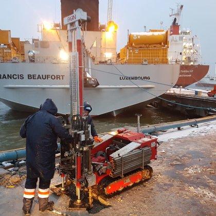 Динамическое зондирование на 137 причале в Литве, порт Клайпеда.