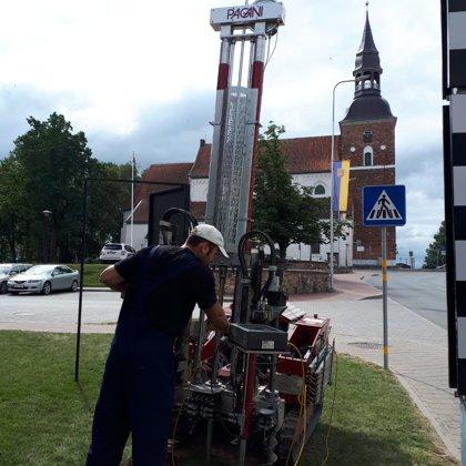 Статическое зондирование в городе Валмиера, Латвия (для реконструкции здания театра)