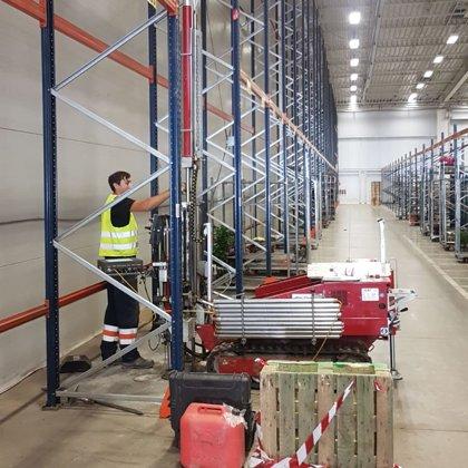Статическое зондирование в существующем здании склада (Кекава, Латвия))