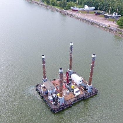 Геотехническое бурение на акватории порта Клайпеда (Литва)