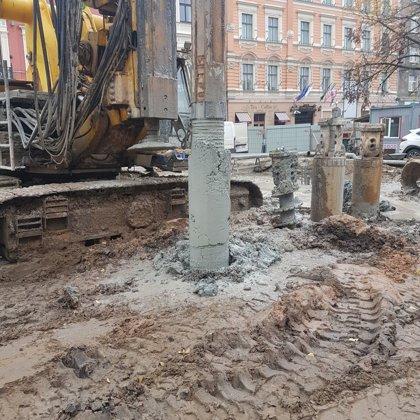 Ģeotehniskā uzraudzība pāļu pamatu ierīkošanas darbiem Grēcinieku ielā 25, Rīgā