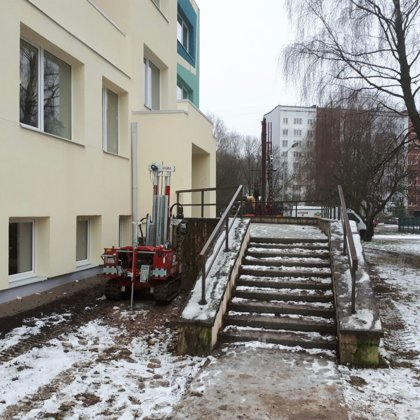 Statiskā zondēšana skolas ēkai A.Saharova ielā 35, Rīgā