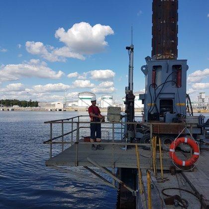 Dinamiskā zondēšana Klaipēdas ostas akvatorijā no platformas